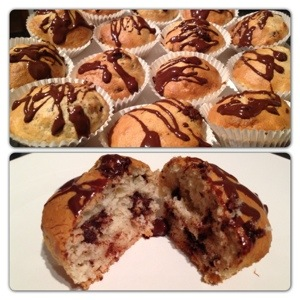 Banana and Chocolate Chip Mini-Muffin