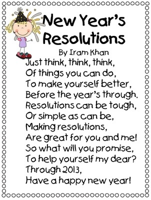 Happy New Year: Little Poem! – Lilinha Angel\'s World – UK Food ...