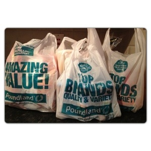 Shopping at Poundland