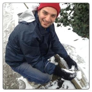 Daddy making Snowballs