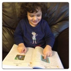 Little man enjoying Disney 365 Stories