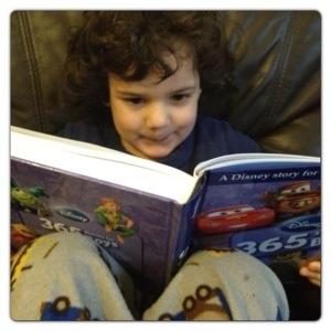 Little Man Reading Stories