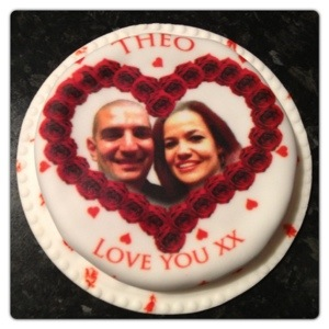 Our Personalised Valentine's Cake