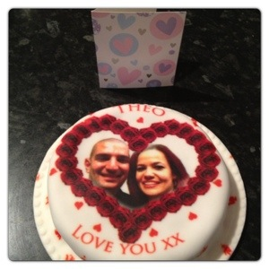 Valentine's Cake and Card