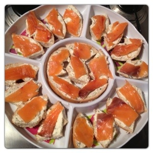 Smoked Salmon and Cream Cheese Bites