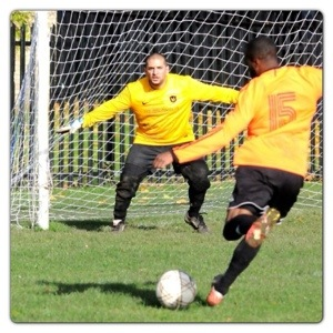 Hubby Playing Football
