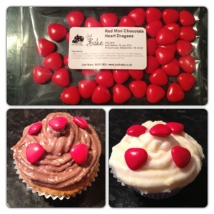 Red Mini Chocolate Heart Dragees