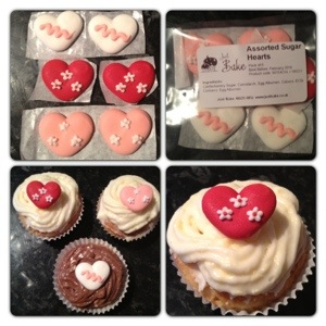 Sugar Heart Cupcake Decorations