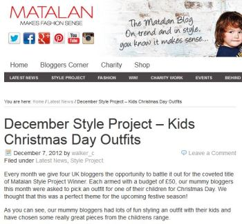 Matalan December Style Project