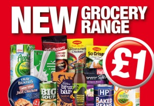 Poundland New Grocery Range