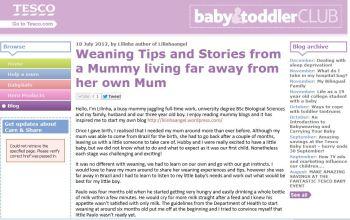 Tesco Blog - Weaning Tips