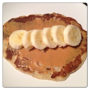 Pancake with Peanut Butter and Banana