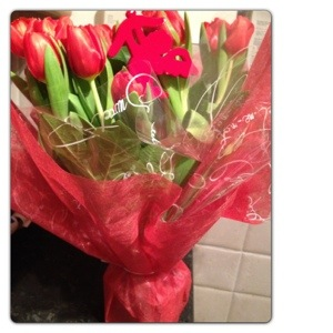 Romantic Tulips Gift Bag by Bunches