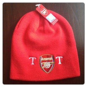 cafea929994 Football Gifts  Personalised Arsenal Knitted Hat – Lilinha Angel s ...