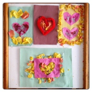 Crafty Kids Valentine's Day Cards with Petals