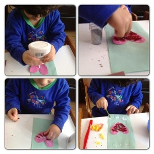 Crafting First Valentine's Card