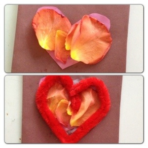 Crafting Second Valentine's Card