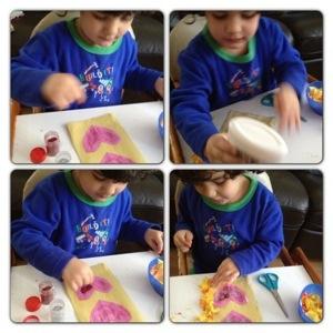 Crafting Third Valentine's Card