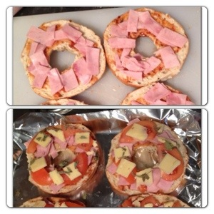 Lunch: Pizza Bagels
