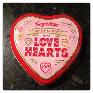 Love Hearts Vintage Style Tins