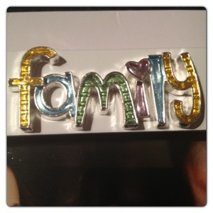 Family in Multi-coloured Letters