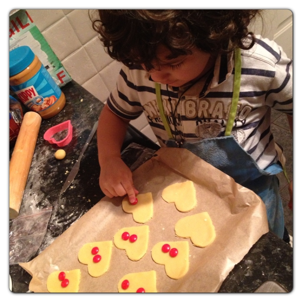 Baking with Children: Valentine's Cookies