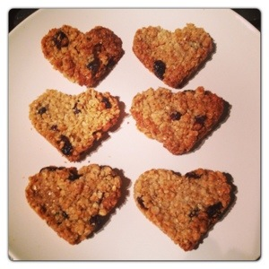 Heart Shaped Flapjacks