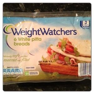 Weight Watchers White Pitta