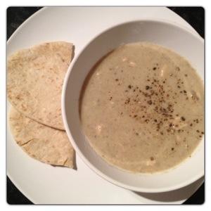 Pitta with Mushroom Soup