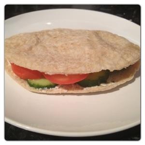 Pitta Sandwich with Ham