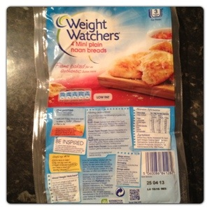 Weight Watchers Mini Naan Bread