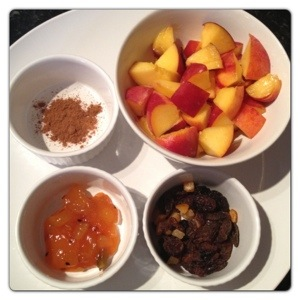 Peaches and Mango Compote