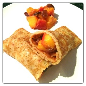 Pancake with Mango Chutney