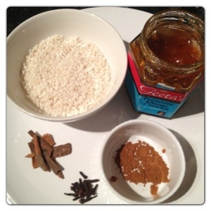 Spicy Rice Pudding Ingredients