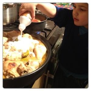 Adding Coconut Milk to Chicken