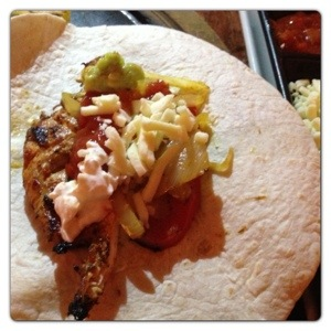 Chicken Fajita at Chiquito