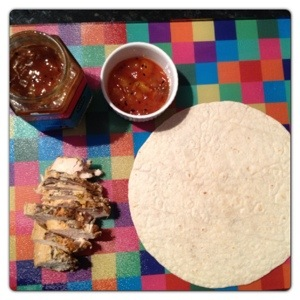 Chicken and Mango Chutney Wrap