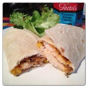 Chicken and Mango Chutney Wrap