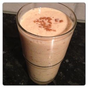 Spiced Nutty Banana Smoothie