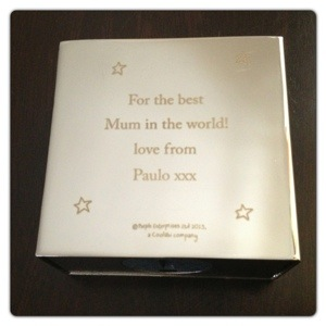 Purple Ronnie Engraved Super Mum Money Box
