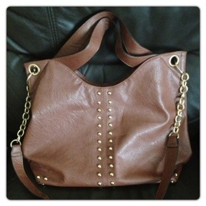 Large Tote / Shoulder Fashion Handbag Tan Brown