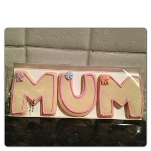 Asda Shortbread Mum Letters Biscuits