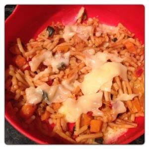 Cheesy Tomatoey Spaghetti
