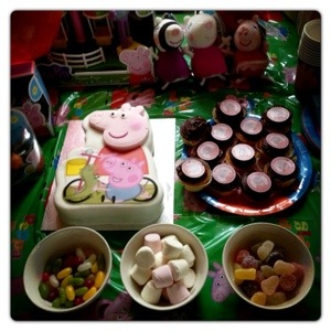 Peppa Pig Cakes and Sweets