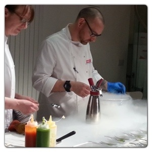 Sean Wilkinson using Liquid Nitrogen