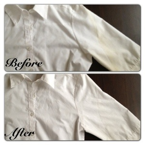 Where there is a stain there is a way with vanish oxi for How to get yellow stains out of white shirts