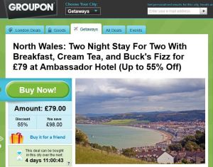 Groupon Deal - North Wales