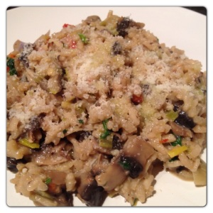 French Mushroom and Pepper Risotto Recipe